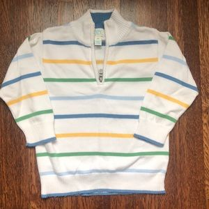 Boys Striped half zip sweater